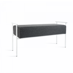 polished ice painted metal/fabric Tao bench made in Italy by Atipico